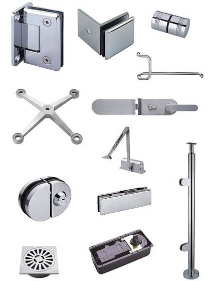 glass hardware fittings